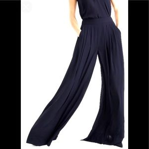 J. Crew Collection pull on wide leg black pant 6